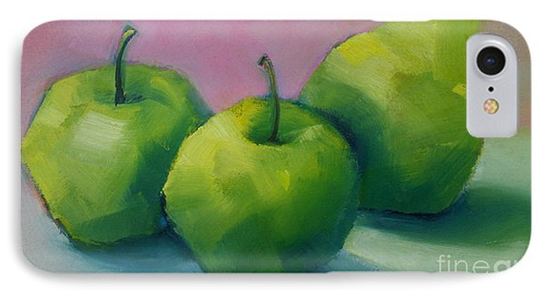 Two Apples And One Pear IPhone Case by Michelle Abrams
