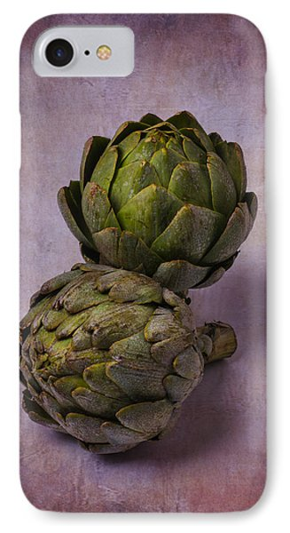 Two Artichokes IPhone 7 Case by Garry Gay