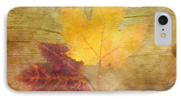 Two Autumn Leaves IPhone Case by Kathi Mirto