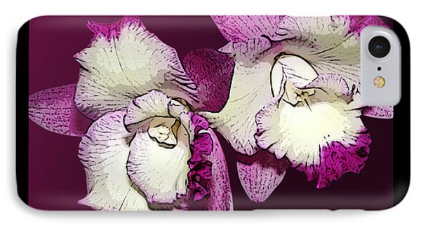 Two Baby Orchids Phone Case by Phyllis Denton