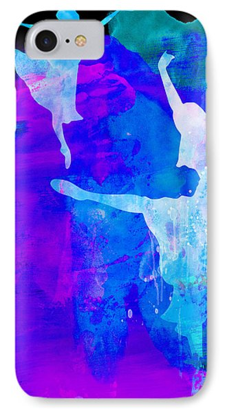 Two Ballerinas Watercolor 3 IPhone Case by Naxart Studio