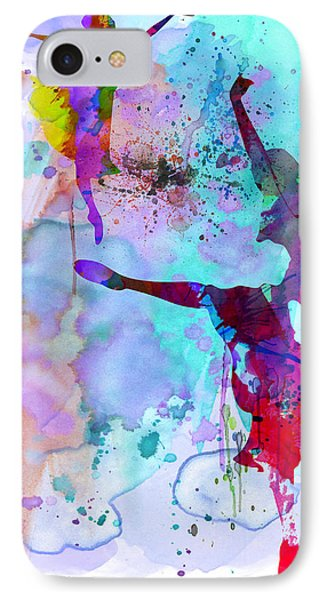Two Ballerinas Watercolor 4 IPhone Case by Naxart Studio