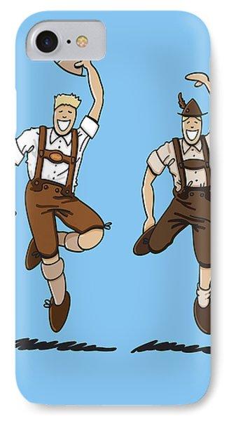 Two Bavarian Lederhosen Men Phone Case by Frank Ramspott