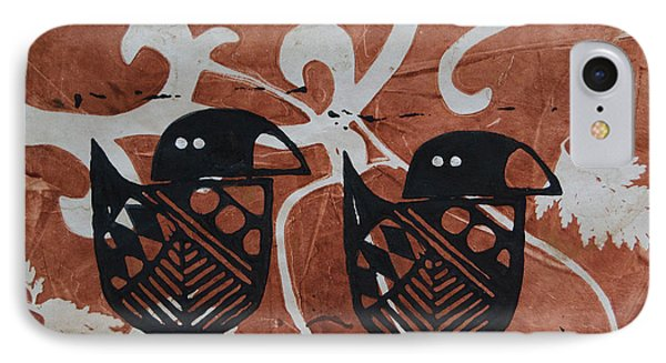 Two Beaks IPhone Case by Cynthia Lagoudakis