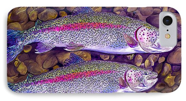 Two Beauties - Trout Phone Case by Laird Roberts