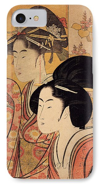 Two Beauties With Bamboo IPhone Case
