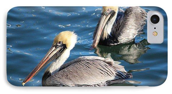 Two Beautiful Pelicans Phone Case by Cynthia Guinn
