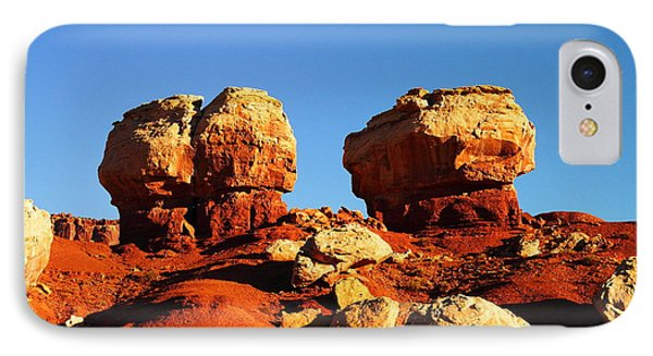 Two Big Rocks At Capital Reef Phone Case by Jeff Swan