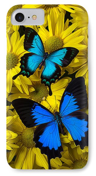 Two Blue Butterflies Phone Case by Garry Gay