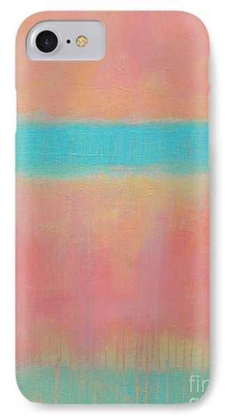 Two Blue Lines Phone Case by Kate Marion Lapierre