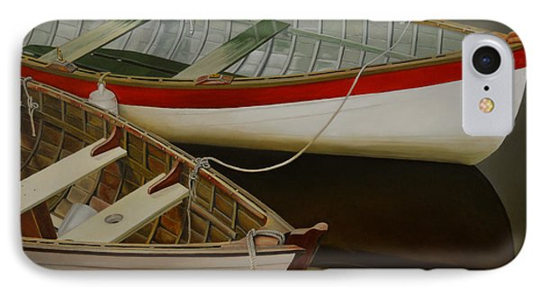 Two Boats IPhone Case by Thu Nguyen
