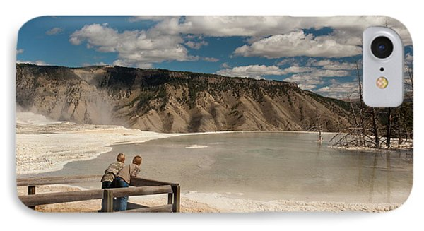Two Boys Admiring Canary Springs IPhone Case by Howie Garber