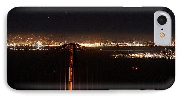 Two Bridges At Night IPhone Case