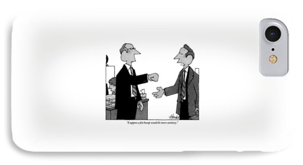 Two Business Men Stand Together IPhone Case by William Haefeli