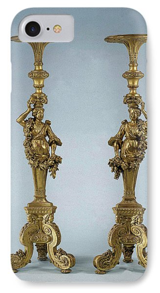 Two Candle Stands Torchères, Anonymous IPhone Case by Quint Lox