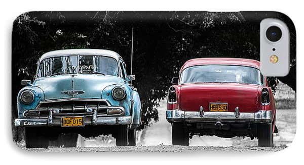 Two Cars Passing IPhone Case by Patrick Boening