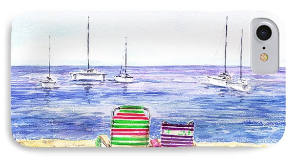 Two Chairs On The Beach Phone Case by Irina Sztukowski