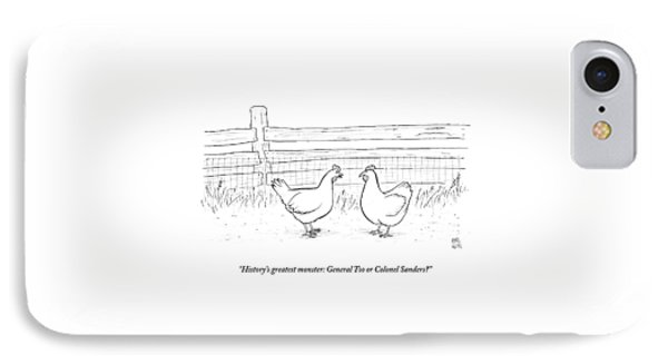 Two Chickens Discuss History IPhone Case