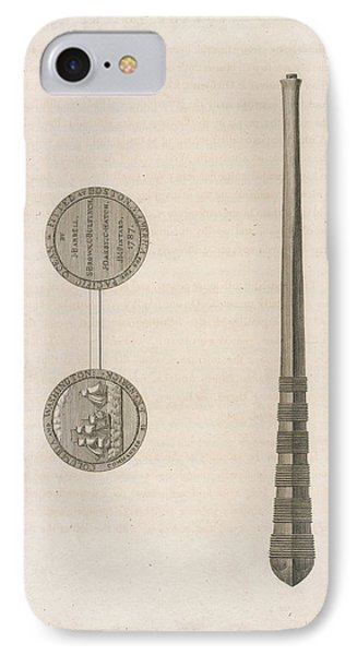 Two Coins And A Long Tapering Stick IPhone Case by British Library