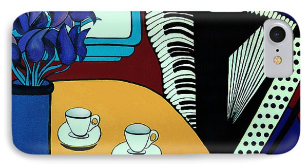 Two Cups One Accordian IPhone Case by Barbara McMahon