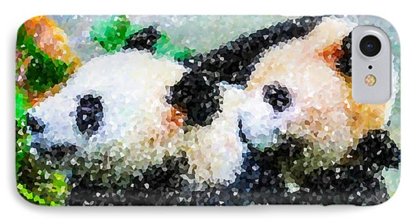 IPhone Case featuring the digital art Two Cute Panda by Lanjee Chee