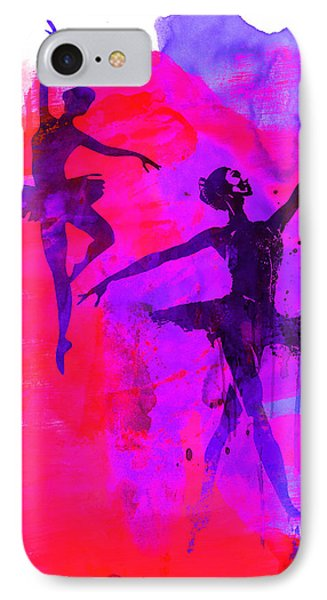 Two Dancing Ballerinas 3 IPhone Case by Naxart Studio