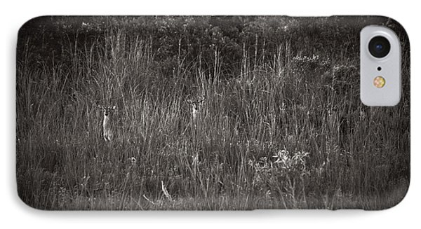 IPhone Case featuring the photograph Two Deer Hiding by Bradley R Youngberg