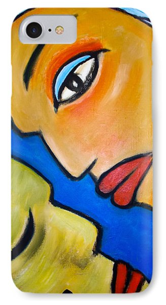 IPhone Case featuring the painting Two Faces by Zeke Nord