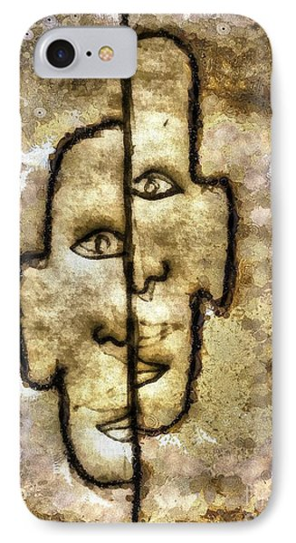 Two Facetwo IPhone Case by Yury Bashkin