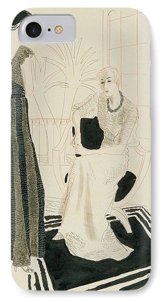 Two Fashionable Women IPhone Case by R.S. Grafstrom