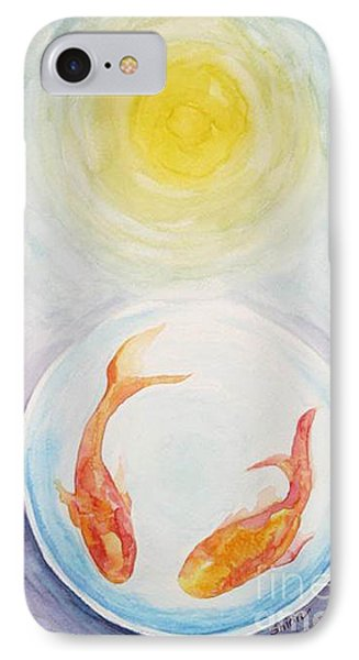 IPhone Case featuring the painting Two Fish by Shirin Shahram Badie