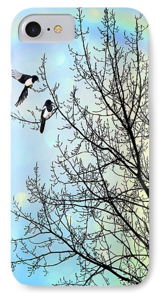 Magpies iPhone 7 Case - Two For Joy by John Edwards