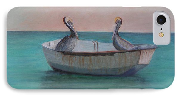 Two Friends In A Dinghy Phone Case by Patty Weeks