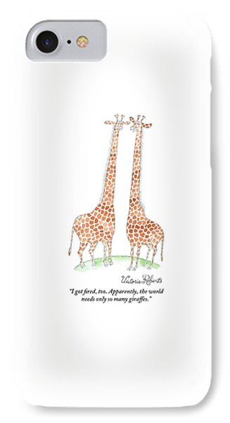 Two Giraffes Talking IPhone Case