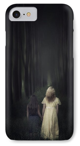 Two Girls In A Forest IPhone Case by Joana Kruse