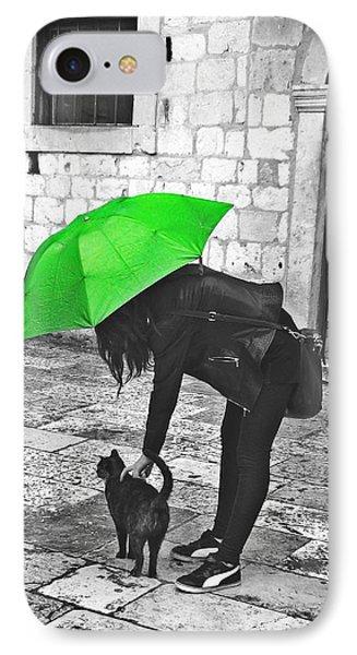 Two Girls Under Umbrella IPhone Case