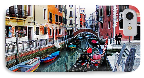Two Gondolas IPhone Case by Alison Tomich