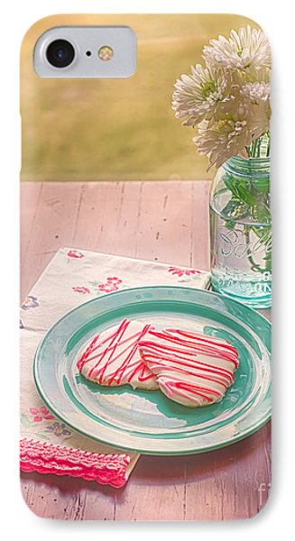 Two Hearts Picnic Phone Case by Kay Pickens