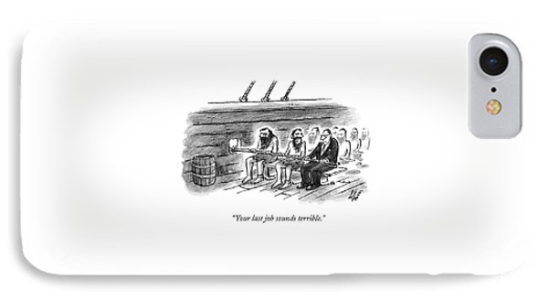 Two Imprisoned Rowers In A Ship Sit Next IPhone Case by Frank Cotham