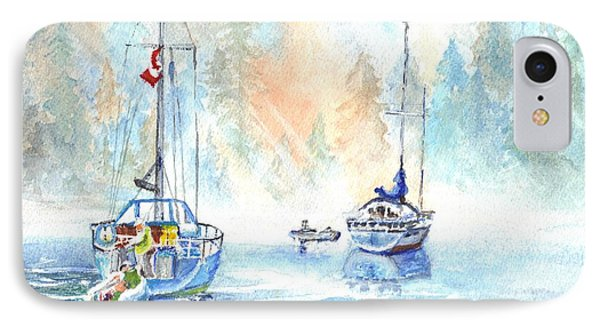 Two In The Early Morning Mist IPhone Case by Carol Wisniewski
