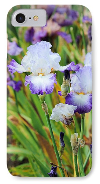IPhone Case featuring the photograph Two Iris by Patricia Babbitt