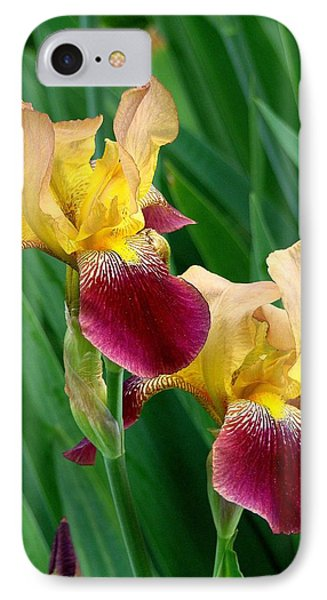Two Iris IPhone Case by Rodney Lee Williams