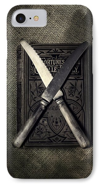 Two Knives And A Book Phone Case by Joana Kruse