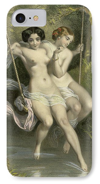 Two Ladies On A Swing IPhone Case