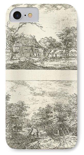 Two Landscapes, Hermanus Van Brussel IPhone Case by Hermanus Van Brussel