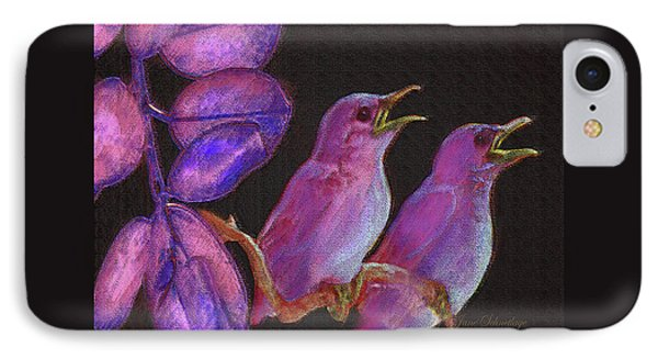Two Little Birds In Pink IPhone Case by Jane Schnetlage