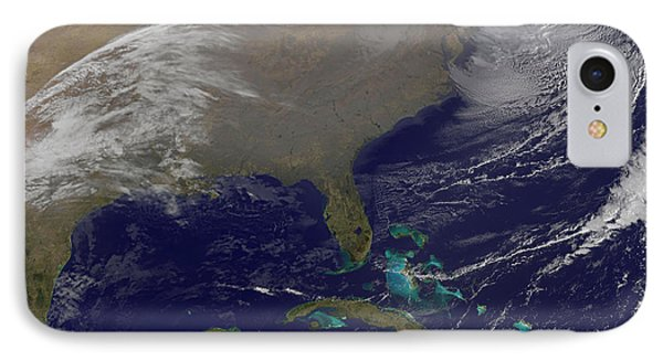 Two Low Pressure Systems Merge Together IPhone Case by Stocktrek Images