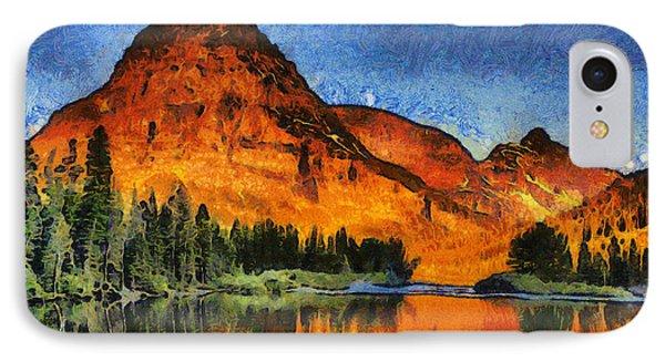 Two Medicine Sunrise - Digital Painting IPhone Case
