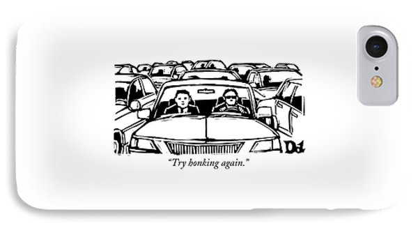 Two Men In A Car Are Stuck In Traffic IPhone Case