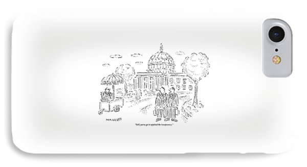 Two Men Speak In Front Of The Capitol And Look IPhone Case